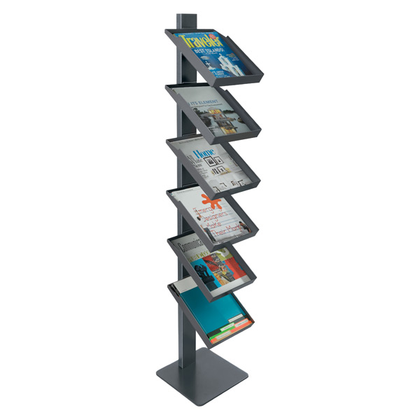 Freestanding Magazine Rack Anthracite
