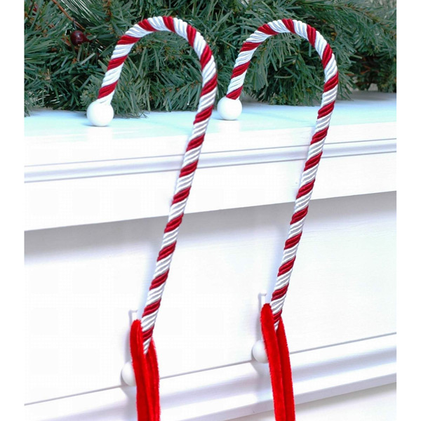 Stocking Holders Candy Cane Pkg/2