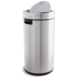 Simplehuman Stainless Steel 14.5 Gal. Swing Lid Trash Can | The Container  Store