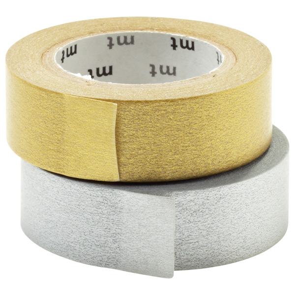 Metallic Rice Paper Tape Gold & Silver Pkg/2