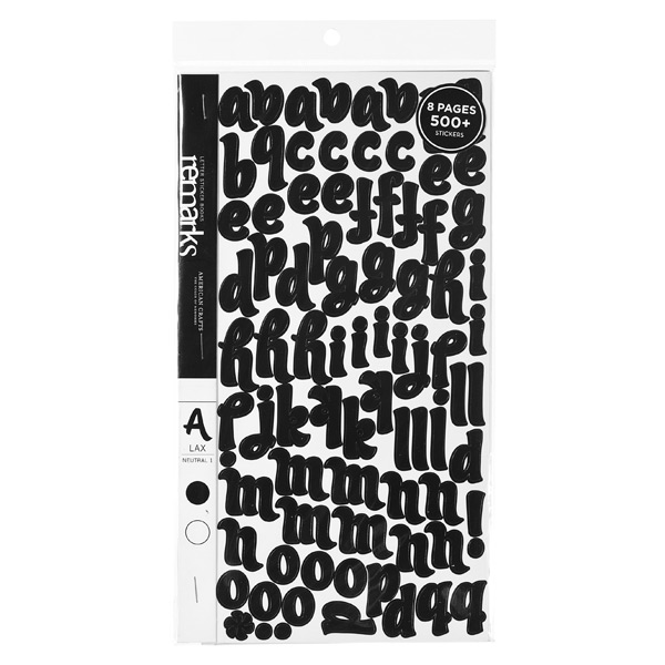 LAX Alphabet Stickers Black/White Pkg/522