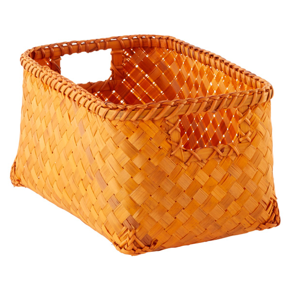Small Weave Bin Orange