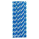 Paper Straws Dots Blue/White Pkg/25