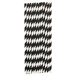 Paper Straws Stripe Black/White Pkg/25