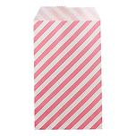 Diagonal Stripe Treat Sacks Pink Pkg/25