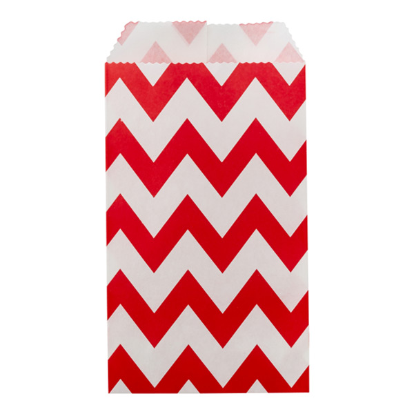 Bold Chevron Treat Sacks Red Pkg/25