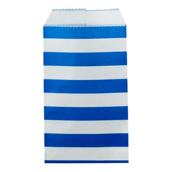 Bold Stripe Treat Sacks Blue Pkg/25