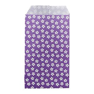 Flowers Treat Sacks Purple Pkg/25