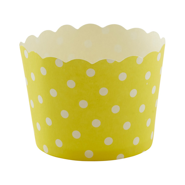 Small Baking Cups Dots Yellow Pkg/25