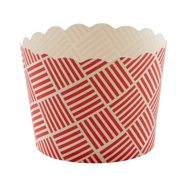 Small Baking Cups Basket Weave Red Pkg/25