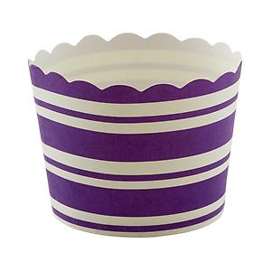 Small Baking Cups Stripe Purple Pkg/25