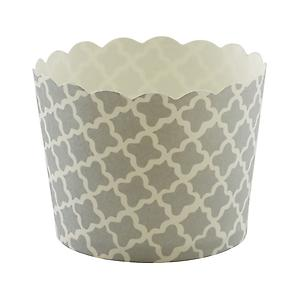 Small Baking Cups Clover Silver Pkg/25