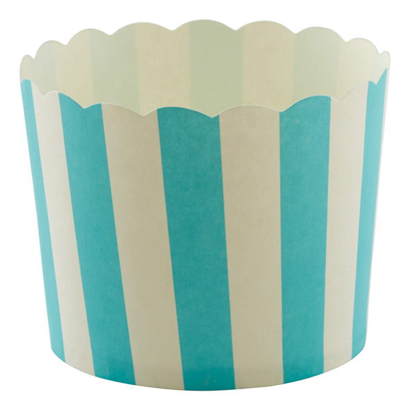 Large Baking Cups Awning Stripe Aqua Pkg/20