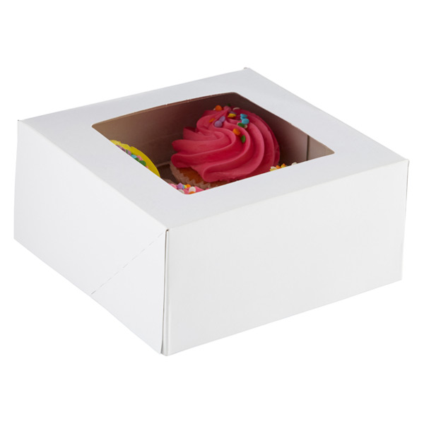 Cupcake Treat Boxes White Pkg/3