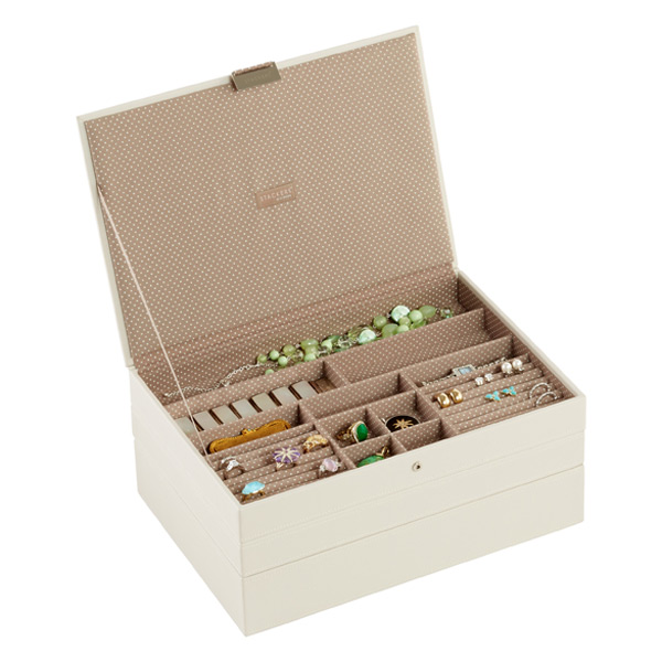 Attirant Vanilla Supersize Stackers Premium Stackable Jewelry Box | The Container  Store