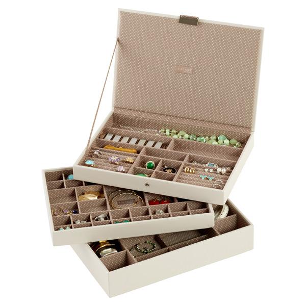 Vanilla Supersize Stackers Premium Stackable Jewelry Box  b6186ae6da
