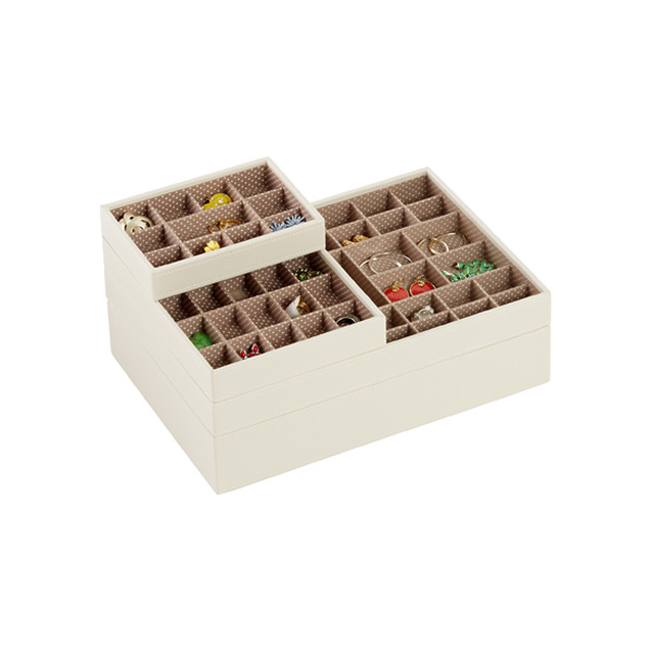 Vanilla Supersize Stackers Premium Stackable Jewelry Box | The Container  Store