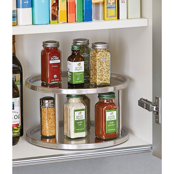 Lazy Susan Spice Rack Inspiration 60Tier Stainless Steel Lazy Susan The Container Store