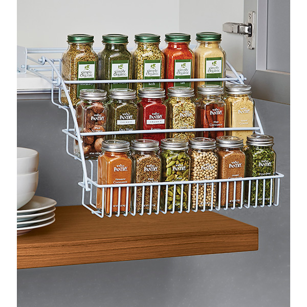 Pull Out Spice Rack Rubbermaid Pull Down Spice Rack