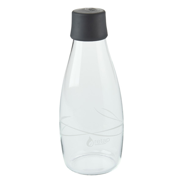 16 oz. Retap Glass Water Bottle Grey
