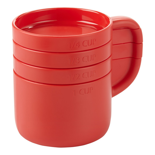 Umbra® Cuppa Measuring Cups Red Set of 4