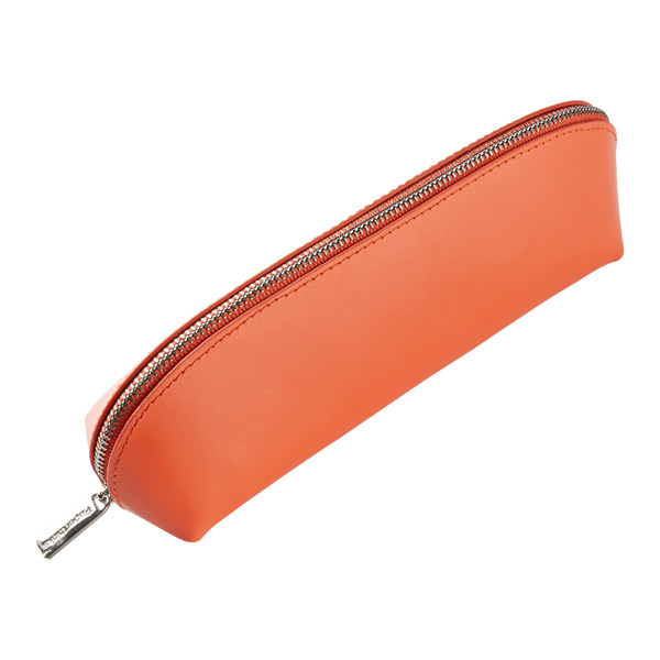 Recycled Leather Pouch Orange