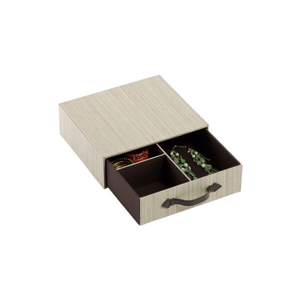 Parker 3-Section Drawer Latte
