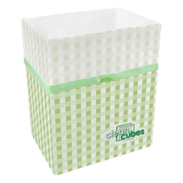 Clean Cubes® Trash Bins Gingham Pkg/3