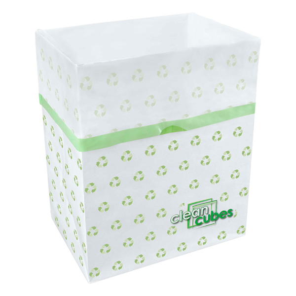 Clean Cubes® Trash Bins Recycle Pkg/3