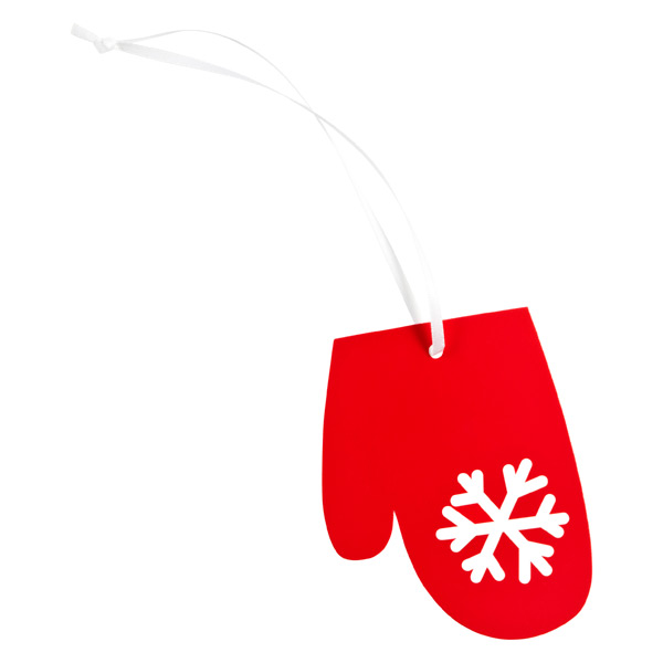 Gift Tags Mitten Red Pkg/4