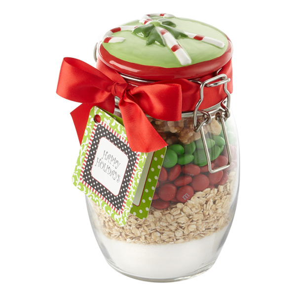 36 oz. Glass Hermetic Jar Candy Cane