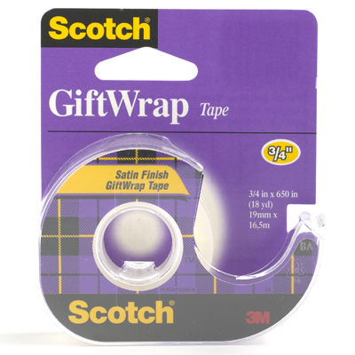 Scotch® Gift Wrap Tape Pkg/3