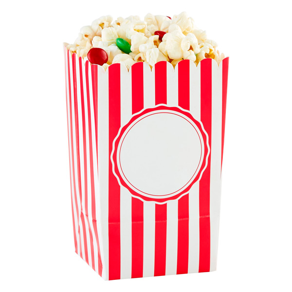 Popcorn Boxes Stripe Red Pkg/6