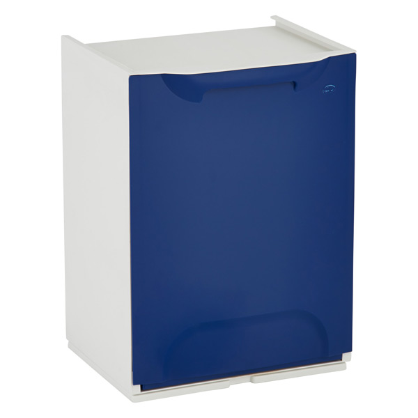 Drop-Front Recycle Bin Blue