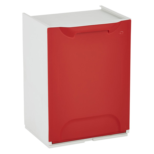Drop-Front Recycle Bin Red