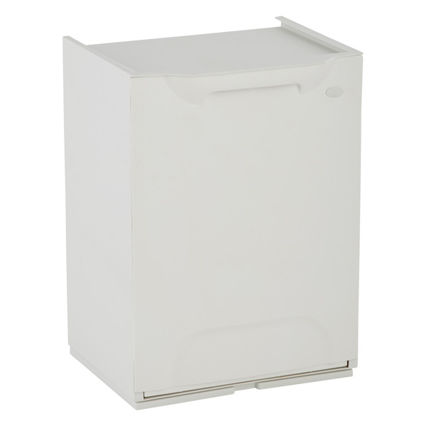 Drop-Front Recycle Bin White