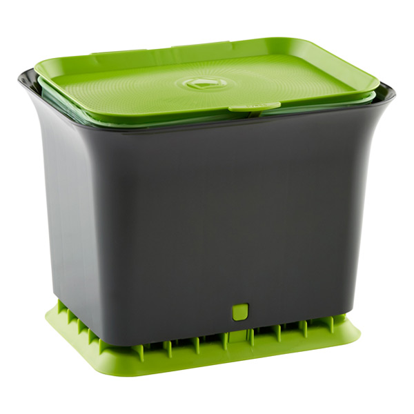full circle slate odor free compost collector the container store