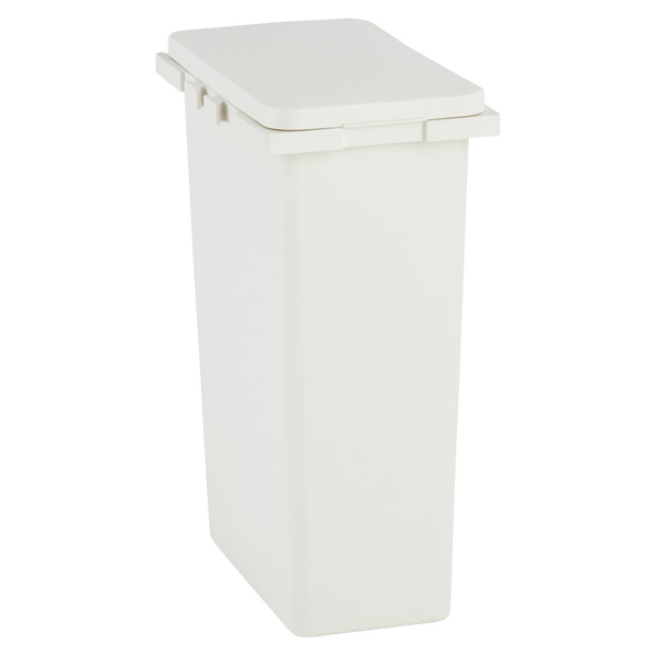 Iris White Connectable Trash Cans with Hinged Lids | The Container ...
