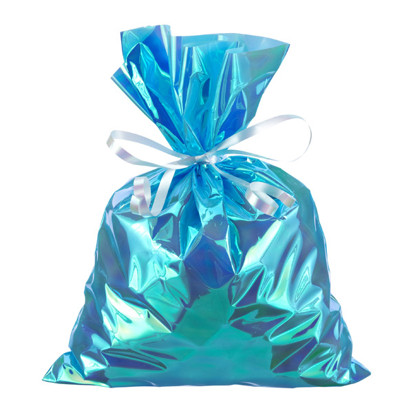 Large Iridescent Sacks Blue Pkg/6