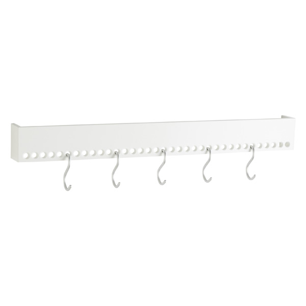 "Large ""So-Hooked"" Hook Rack White"