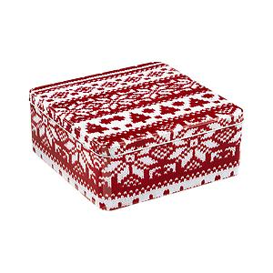 Medium Square Sweater Tin Red/White