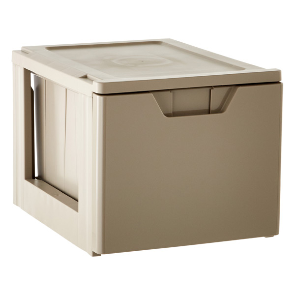 Stackable Storage & File Drawer Taupe