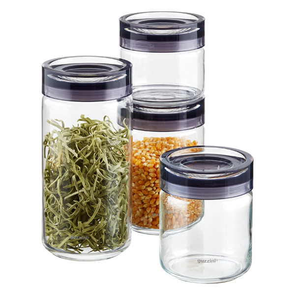 Grigio Glass Canisters by Guzzini | The Container Store
