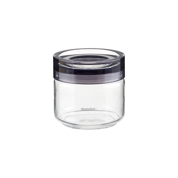 17 oz. Grigio Glass Canister Grey Acrylic Lid