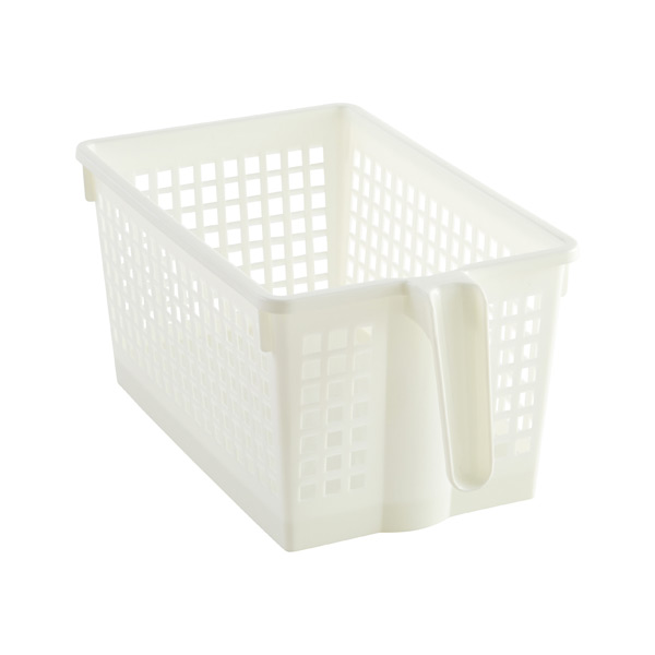 Small Handled Storage Basket White