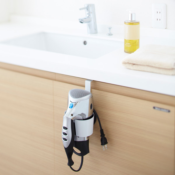 Adjustable Overcabinet Hair Dryer Holder