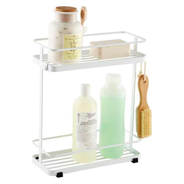 2-Tier Bath Tower White