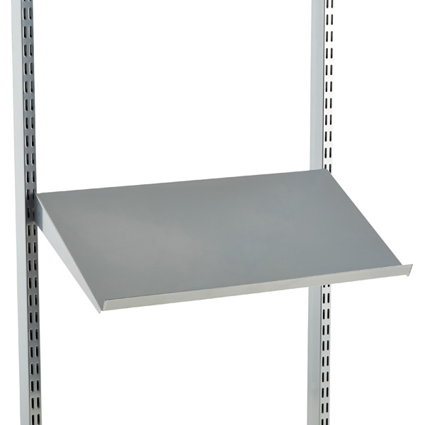 Platinum Elfa Angled Solid Metal Shelves The Container Store