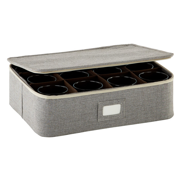 Cup/Mug Storage Case Brown Twill