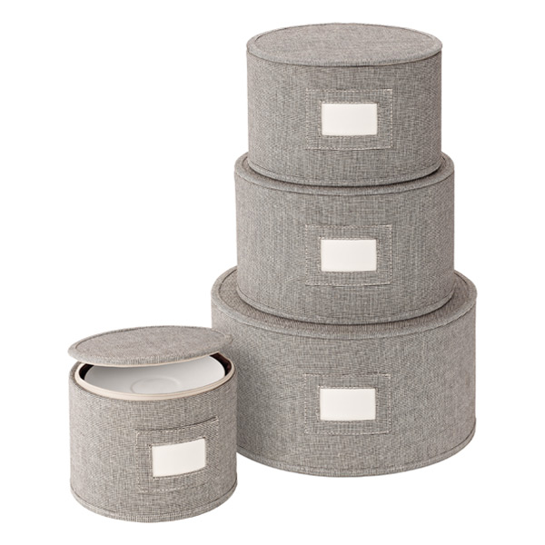 Brown Twill China Storage Cases  sc 1 st  The Container Store & Brown Twill China Storage Cases | The Container Store